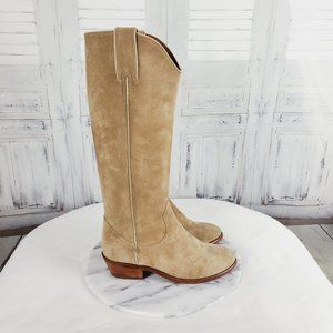 Frye Suede Carson Pull On Cowboy Boots